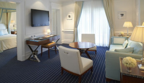 Location photography of model interiors for Cipriani condo hotel, formerly The Saxony  locted 32nd street on  Miami Beach